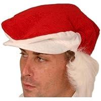 Berretto visiera cappello di Babbo Natale rosso e bianco pelliccia capelli 7ace68dc7837