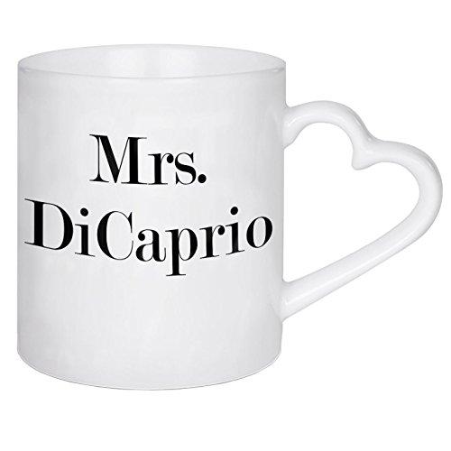 """artboxONE Herztasse \""""Mrs. DiCaprio\"""" von Dunja Krefft - Herztasse Film"""