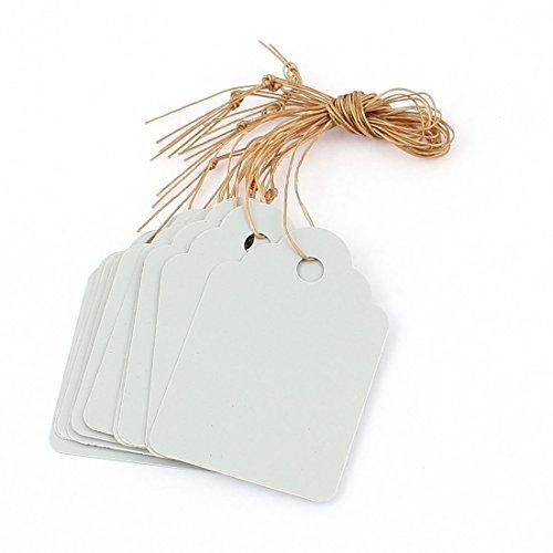 Plastic Plant Garden Seed Hanging Étiquette Marker 4.5cmx3cm 10Pcs Blanc