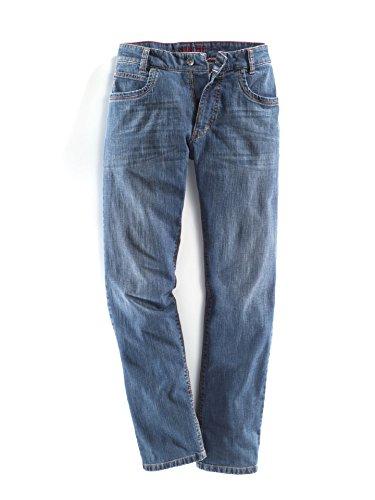 Walbusch Herren Jeans-Jeans einfarbig Comfort Fit in den Farben Blau, Hellblau, Blue Stone, Light Blue, Blue Brown Blue Stone
