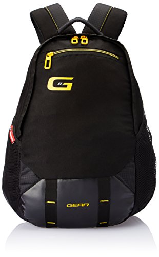Gear Polyester 47 cms Black and Yellow Casual Backpack (BKPOTLNR60112)