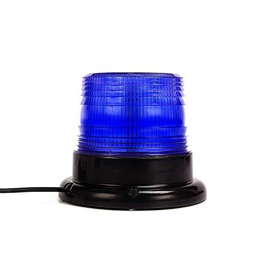 Luci di segnalazione a LED, luci di avvertimento di emergenza blu Dinfu per veicoli, camion, vigili del fuoco e auto della polizia con magnete potente (cablato)
