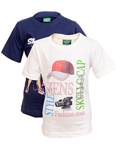 Devil Boys Cotton Printed Half Sleeve Tshirts for Kids (Pack of 2) (3-4 Years)