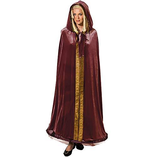 Unbekannt Damen Kostüm Historischer Umhang OneSize rot Märchen Karneval - Historische Kostüm