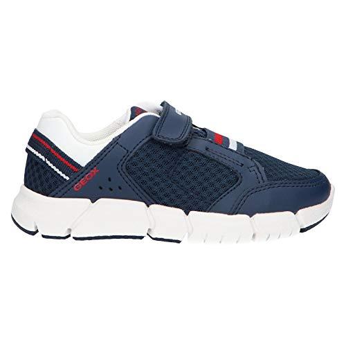 Geox J Flexyper B, Zapatillas para Niños, Azul Navy/White C4211, 30 EU