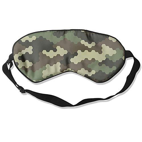Camouflage Pattern Camo 99% Eyeshade Blinders Sleeping Eye Patch Eye Mask Blindfold For Travel Insomnia Meditation -