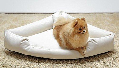 Artikelbild: TR4-05 Hundebett TRIVIA Eckbett Eckhundebett Hundesofa Hundebett Gr. L 100cm Creme