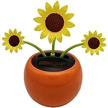 D DOLITY Modelo de Flor de Girasol Bailando Alimentado por Luz Solar Juego de Diversión para