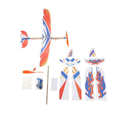 FADACAI DIY Handgemachte Elastische Gummiband Powered DIY Schaum Flugzeug Modell Kit Flugzeuge Pädagogisches Spielzeug (Gummiband Starten Flugzeug)