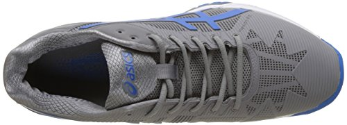 Asics Gel-Solution Speed 3, Scarpe da Ginnastica Uomo Grigio (Aluminum/Electric Blue/White)