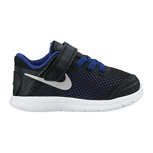 Nike Unisex Baby Flex 2016 Rn (Tdv) Sneaker Black/Metallic Silver/Game Royal/White