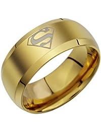 19 Likes Super Hero Golden Metal Alloy Finger Rings For Boys Men