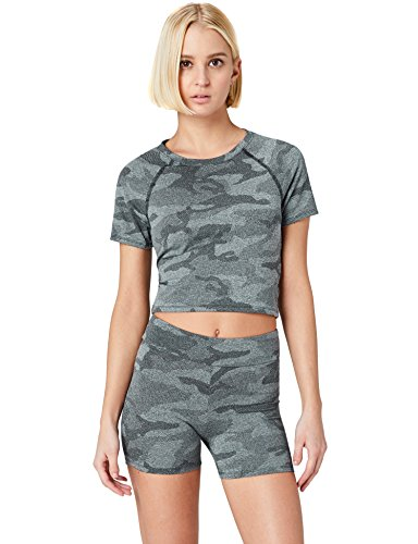 FIND Sport Top Damen, Gr. X-Small, Schwarz (Black)