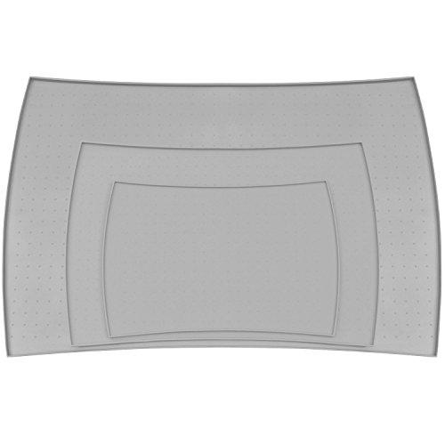 PetFusion Napfunterlage aus hochwertigem Silikon (überGroß,, Grau) - 86 x 58 x 1.5 CM
