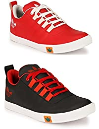 Lavista Men's Black And Red Sneaker Casual Shoe