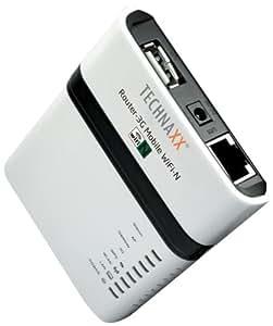 Technaxx Router-3G WiFi-N - Mobiler Router WiFi-N/3G weiß