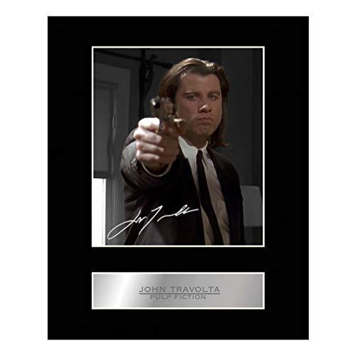 John Travolta Photo dédicacée encadrée Pulp Fiction