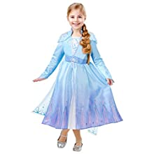 Rubie's Official Disney Frozen 2, Elsa Deluxe Dress, Childs Costume, Size Medium Age 5-6 Years