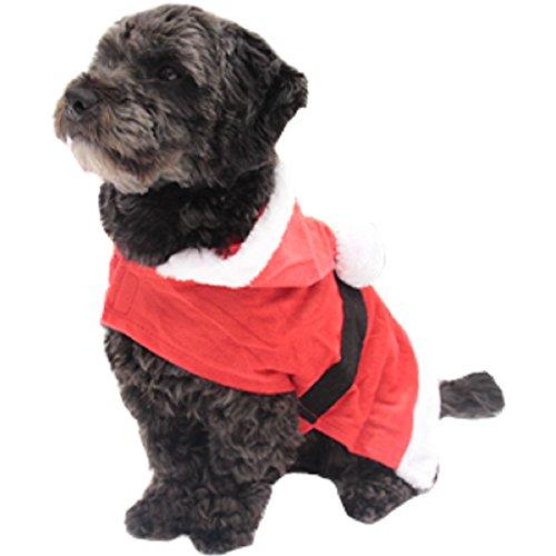 Hooded Santa Cape Dog Kostüm - (Ideen Kostüme Thor)