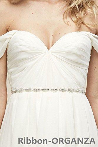 QueenDream Gürtel für Hochzeitskleid, mit Perlen, Strass-Band, für Hochzeit, Braut, Schärpe,...