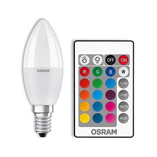 Osram Star+ Lampadina LED a Candela, Luce Bianca e Colorata, Dimmerabile Tramite Telecomando, E14, 40 W Equivalenti, 5.5 W, Bunt