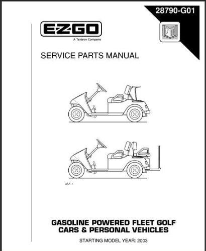 EZGO 28790G012003–2005Service Teile für Gas TXT Fleet Cars und persönliche Fahrzeuge
