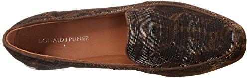 Donald J Pliner Elana Synthétique Mocassin Bronze Leopard Glitter