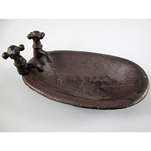 Nostalgie Seifenschale Waschbecken Seifen Ablage Badewanne Seifenablage Gusseisen Antik-Stil (Seifenschale Badewanne Form)