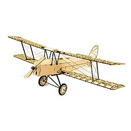 Goolsky Dancing Wings Hobby VX10 1/18 De Havilland Tiger Moth 400mm Apertura alare di legno Statico modello di aeroplano mestiere di arredamento in legno regalo per bambini e adulti