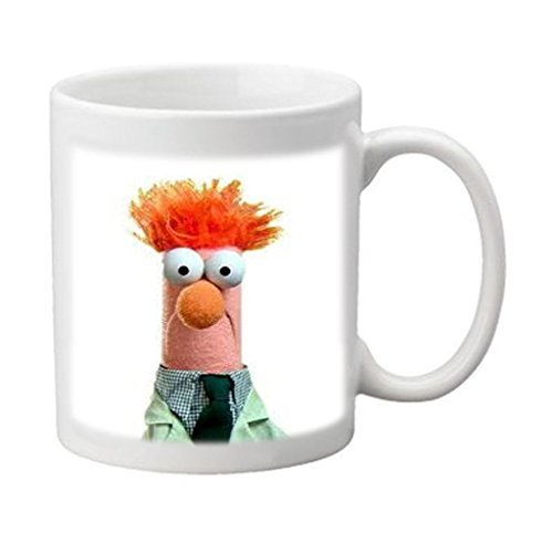 Funny Beaker Muppets Meme Custom Image Printed Ceramic Durable White Mug Water Cup By ABEEIE Best Gift by Abeeie