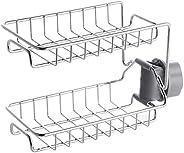 Stainless Steel Kitchen Faucet Shelf Sink Caddy Sponge Holder Drain Storage Rack Adjustable Stand Bathing Soap