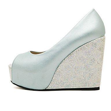 LvYuan Da donna-Sandali-Formale-Altro-Zeppa-PU (Poliuretano)-Bianco Blu chiaro Light Blue