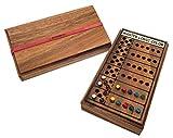 ROMBOL Master Mind, Superhirn, Kombinationsspiel für 2 Personen, Holzspiel, Reisespiel