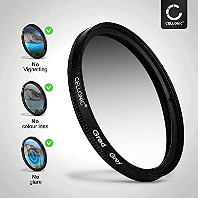 CELLONIC Graduated filter Gradient compatible with Sony 72mm Gradient Neutral Density Filter