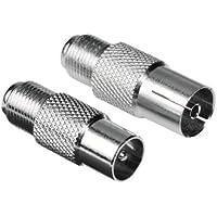 Hama SAT Adapter (F-Kupplung auf Koax-Stecker und F-Kupplung auf Koax-Kupplung) 2er Set
