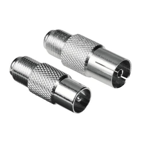 f adapter Hama SAT Adapter (F-Kupplung auf Koax-Stecker und F-Kupplung auf Koax-Kupplung) 2er Set
