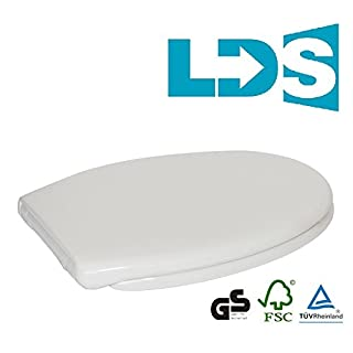 Landlord Direct Supplies LDS Soft Close & Easy Release Toilet Seat. RRP £39.99. WHITE SEAT Soft Close Toilet Seat with Top Fix/Blind Hole Fittings and One Button Easy Release Hinges