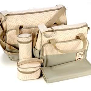 versand aus deutschland 5tlg wickeltasche babytasche pflegetasche tasche khaki neu. Black Bedroom Furniture Sets. Home Design Ideas