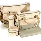 *Versand aus Deutschland* 5tlg Wickeltasche Babytasche Pflegetasche Tasche Khaki NEU