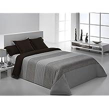 Reig Martí Belice - Juego de funda nórdica jacquard, 3 piezas, para cama de 150 cm, color gris