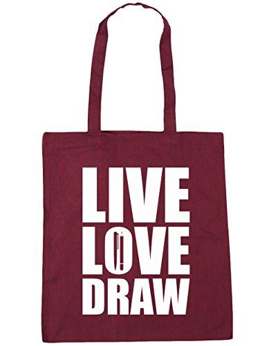hippowarehouse-live-love-draw-vive-ama-dibuja-bolso-de-playa-bolsa-compra-con-asas-para-gimnasio-42c