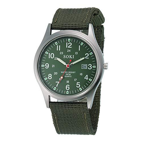 ❤❃ Herrenuhr Räumungsverkauf❤❃,Military Army Men es Date Canvas Band Edelstahl Sport Quartz Wrist Watch GNby jieGREAT
