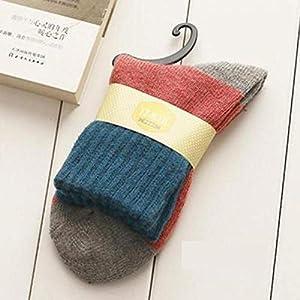 CXKWZ Damensocken Retro Verdickung Frauen Socken Herbst Winter Patchwork Socken Weibliche Rohr Socke Studenten