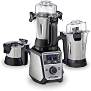 Hamilton Beach Professional Juicer Mixer Grinder, 1400 Watt, Triple Overload Protection, 3 Stainless Steel Lea
