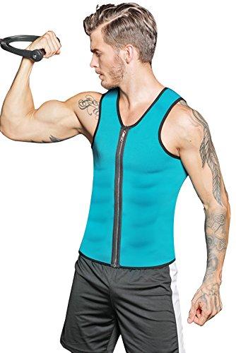 RIBIKA Hot Body Shaper Sauna Sweat Suit Herren Neopren Abnehmen Weste Gewicht Verlust Taille Trainer Top Workout Bauch von