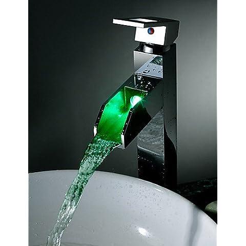 LONG-Montaggio su piattaforma Single Handle un foro in Cromo Lavandino rubinetto del bagno