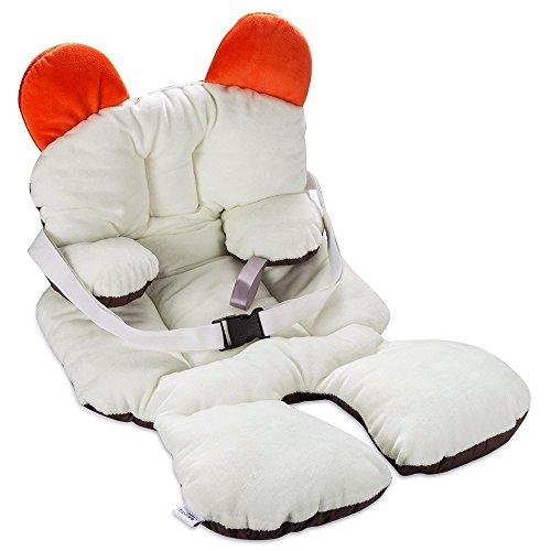 Freesoo Cojín reductor para sillas de bebé (0 - 12 meses) Suave Algodón Almohadilla Estera Cochecito Bebé Asiento de Coche silla de paseo