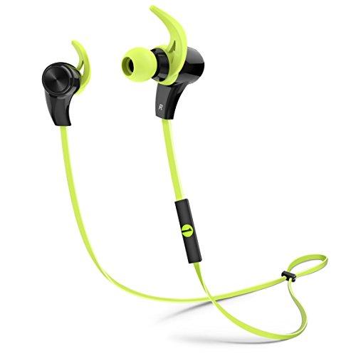 1byone Cuffie Auricolari Sport Bluetooth 4.1, con Stereo HD, anti-sudore ed design ergonomico