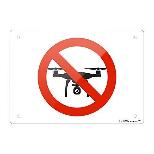 Verboten Aluminium Metall Schild Kein Drohnen, 45,7x 30,5cm Zoll entworfen, hongdongdds