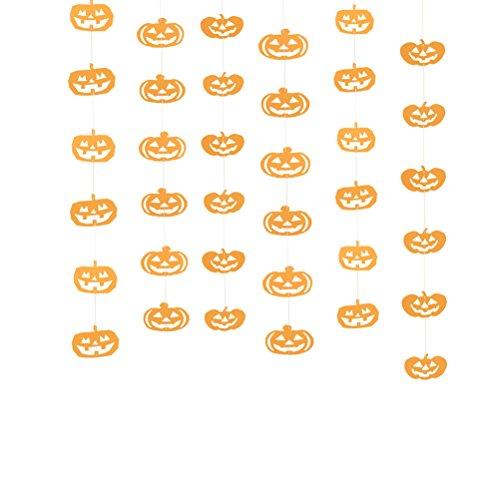 LUOEM Kürbis Hängende Dekoration Halloween Papier Kürbis Ornamente Decke Anhänger Dekor für Geburtstag Halloween Party Dekoration 6 STÜCKE (Orange) - Papier-decke-anhänger